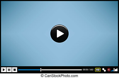 A video player design for presentation purposes.