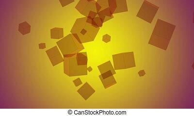 Video moving cubes, loop