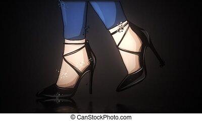 video, nogi, shoes., high-quality