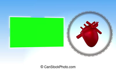 Video of a heart against sky backgr - Animation of a heart...