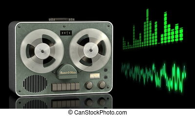 Video of a Sound Recording - Video clip of a reel to reel...