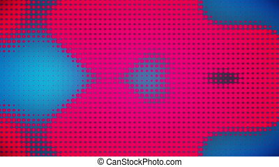 Video of blue and pink dots