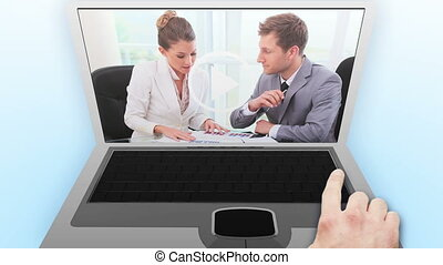 Video of businessmen and women in a