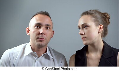 Video of couple during talking - Video of man and woman...