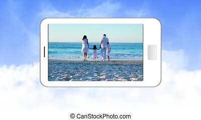 Video of family during summer holid