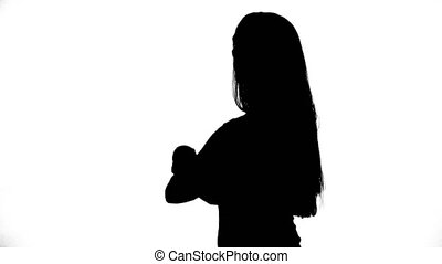 Video of girl with arms crossed