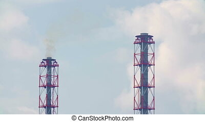 Video of industrial chemical plant
