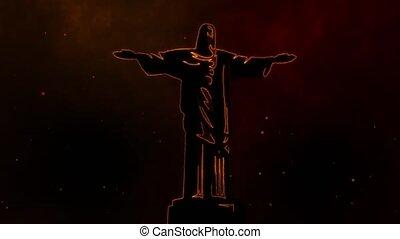 Jesus, statue, monument, religion, video