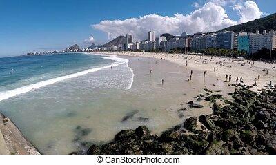 Video of Leme and Copacabana beach in Rio de Janeiro Brazil