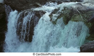 Video of Manafossen waterfall in Norway. - Video of ...