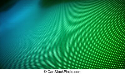 Video of multiple blue and green do