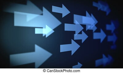 Video of multiple blue arrows - Animation of multiple blue...