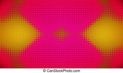 Video of pink and yellow dots - Animation of pink and yellow...