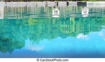 pool reflection vacation abstract