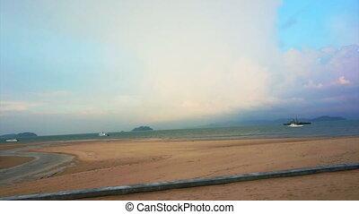 Video of rainbow over Ocean beach