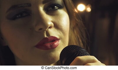 Video of singing teenager girl