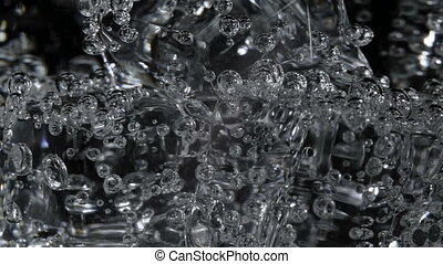Video of soda water with bubbles - Footage of soda water...