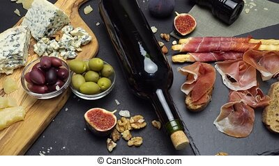 Video of Traditional italian food and wine