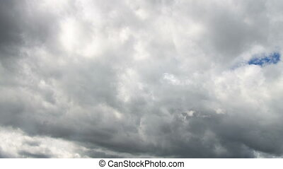 Video of white and gray clouds on blue sky