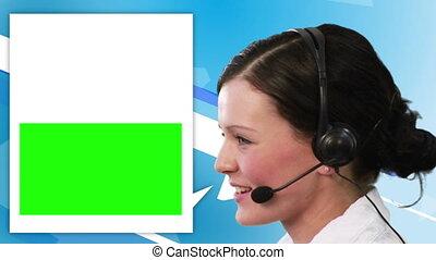 Video of women calling with speech