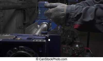 Video of working process on sheet bending machine in ...
