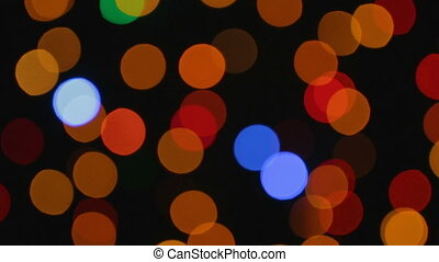 Video of xmas lights with bokeh effect