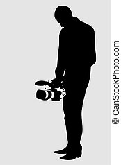 Cameraman & video camera