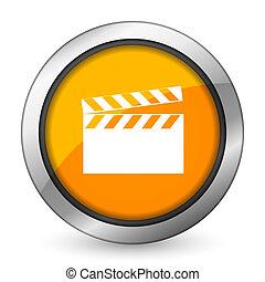 video orange icon cinema sign