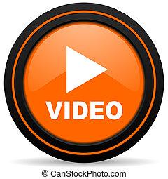 video orange icon