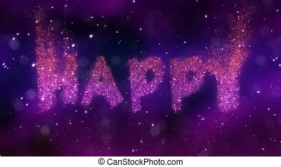 video., pętla, urodziny, szczęśliwy