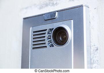 video, přístup, house., domácí telefon