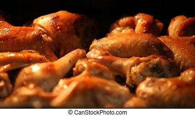 pieces of fried chicken in the oven