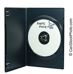 Video piracy - A pirate copy of a movie in a dvd box on...