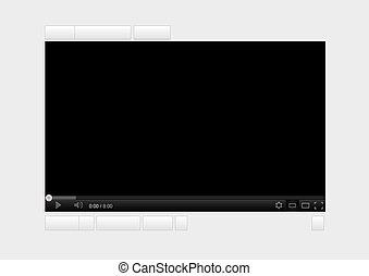 Black streaming video player website editable