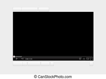 Video player 3 - Black streaming video player website...