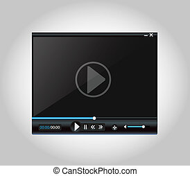 Video Player Blue