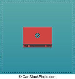 Video player computer symbol