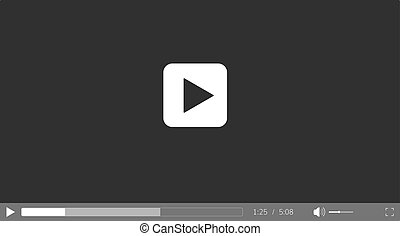 Video player for web site. Video player interface