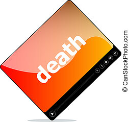 Video player for web with death word