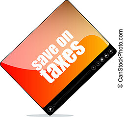 Video player for web with save on taxes word