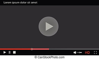 Video player frame Video player template interface for web site