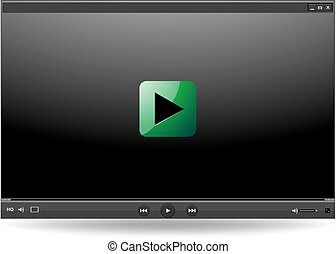 Video player interface for web and mobile apps  vector mockup ui