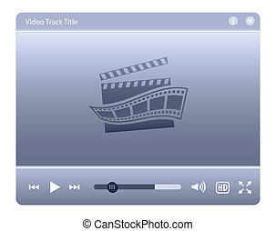 Video player interface. Web design element