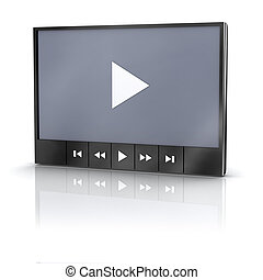 Video player - Media video player with reflection
