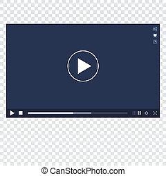 Video Player mockup