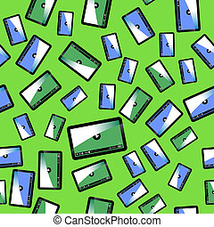 Video Player Seamless Pattern
