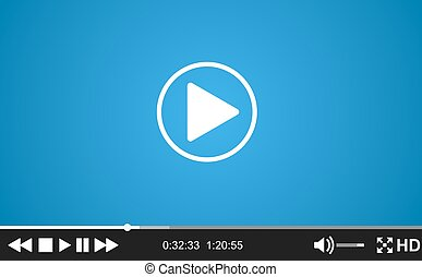 Video player template for web,