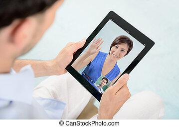 video, pogawędka, komunikacja