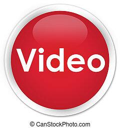 Video premium red round button