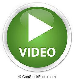 Video premium soft green round button